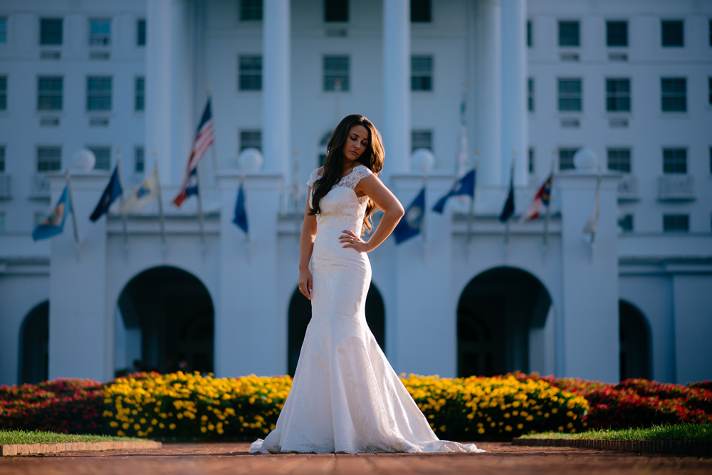 west virginia bridal portraits at the greenbrier
