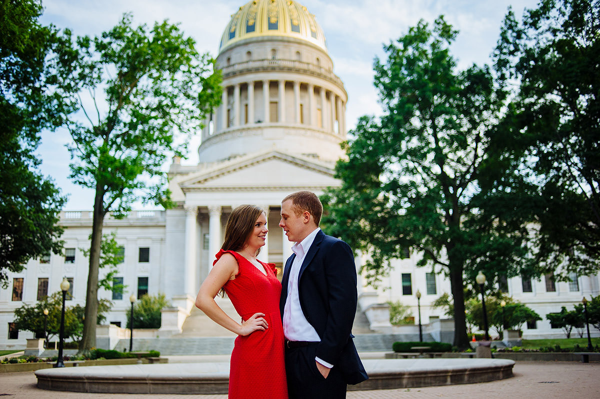 charleston wv capitol dome engagement photos
