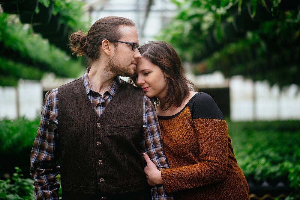 charleston wv greenhouse engagement portraits