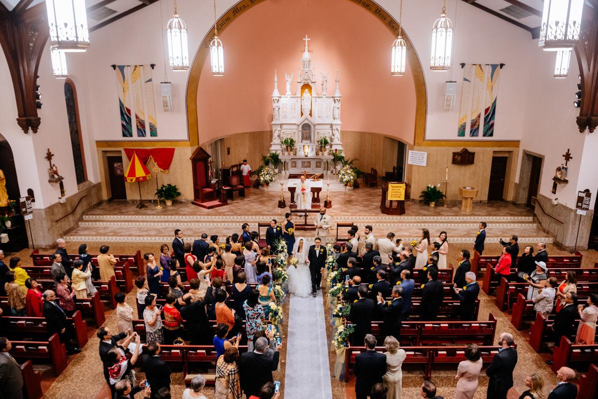 charleston wv wedding ceremon at sacred heart