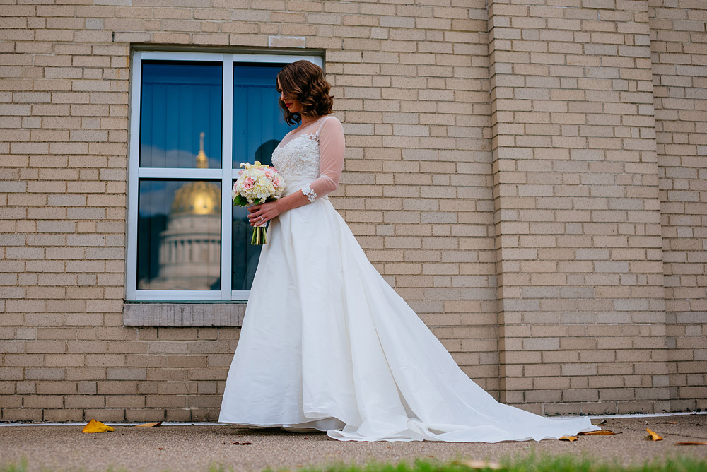 charleston wv wedding gold dome reflection