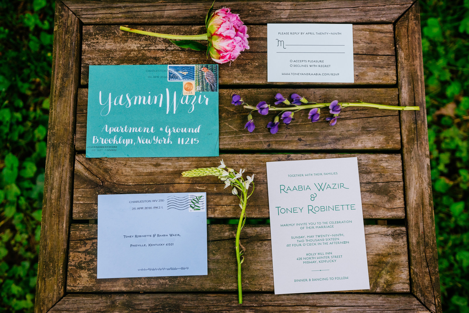 details invitation suite holly hill inn wedding lexington ky