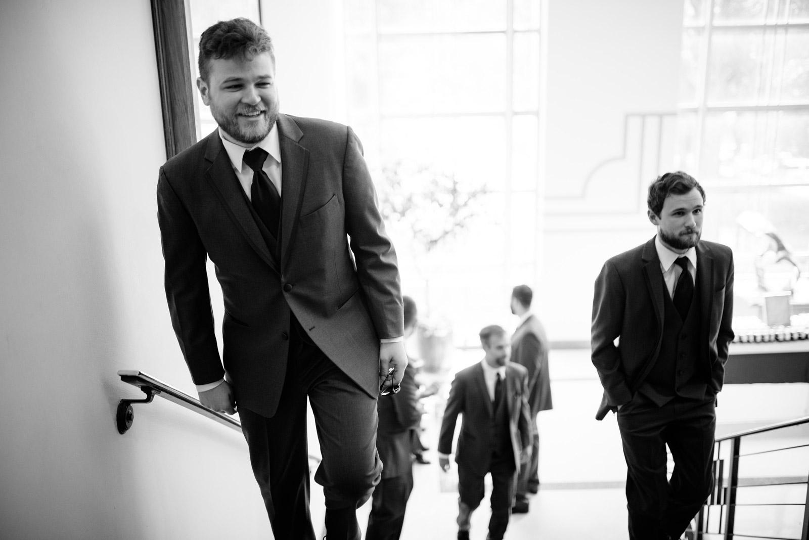 groom arrives at UC