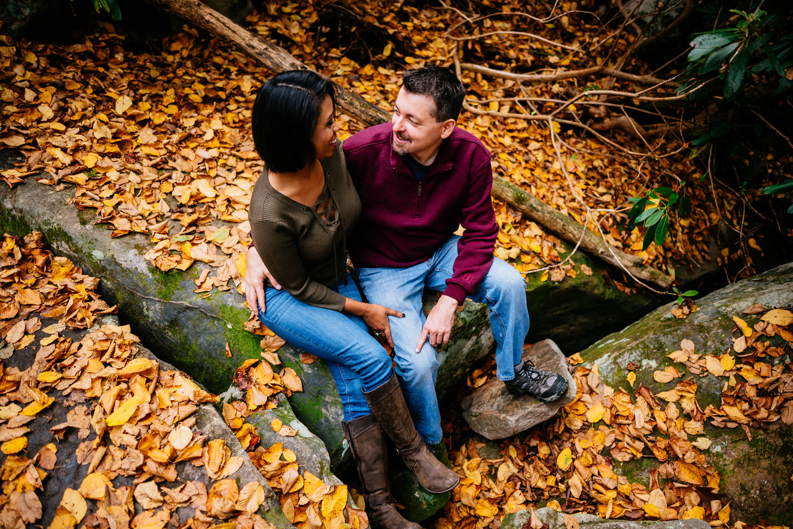 october engagement photos endless wall long point trail fayetteville wv