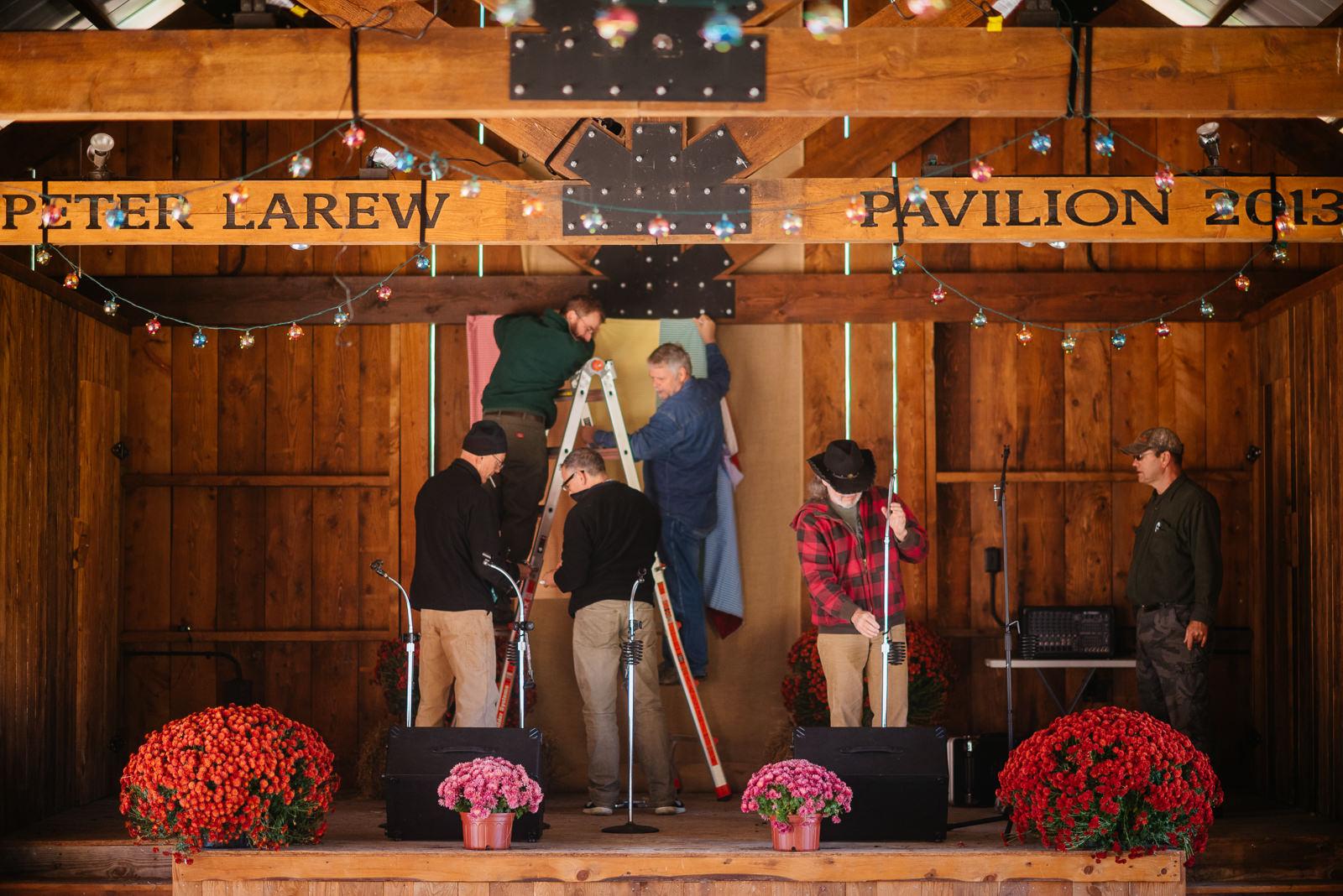 wv farm wedding reception