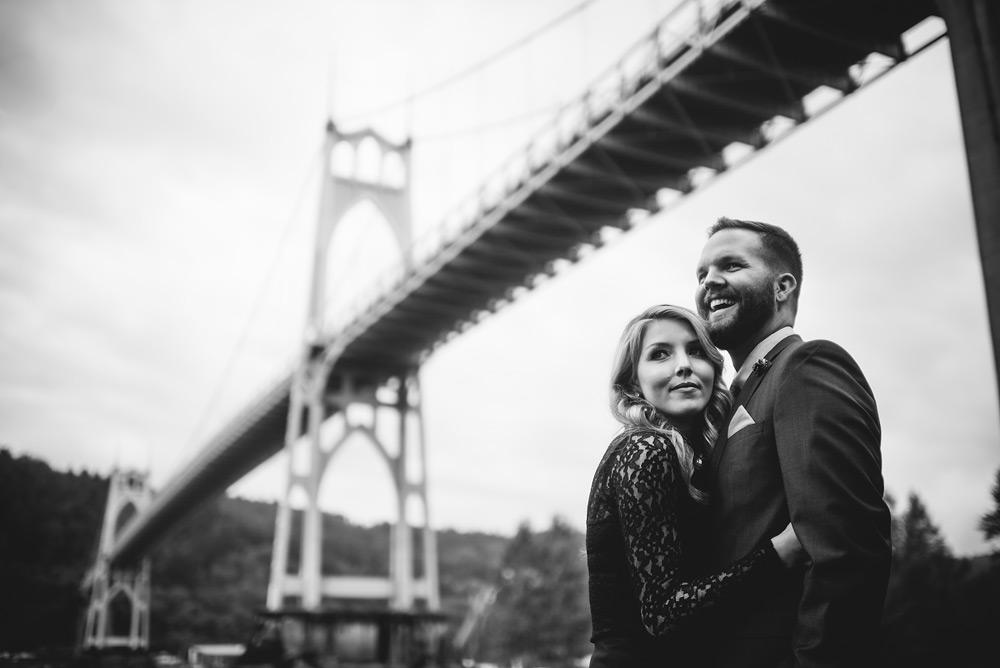 cathedral park bridge portraits