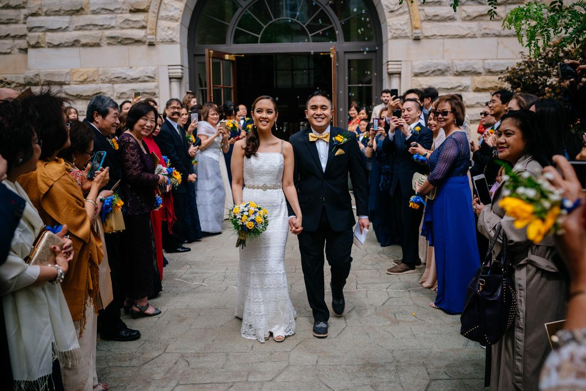 charleston wv wedding ceremony bubble exit at sacred heart