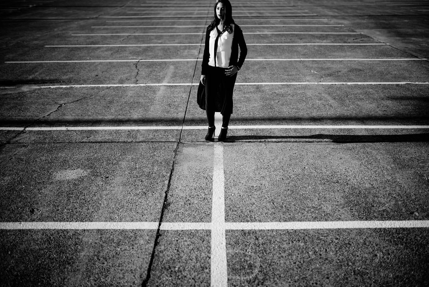creative black and white portraits