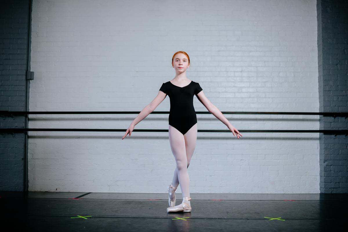 dance portraits little girl ballerina 1