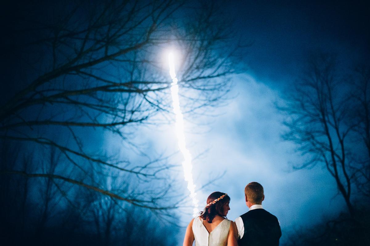 epic wedding fireworks in wheeling west virginia