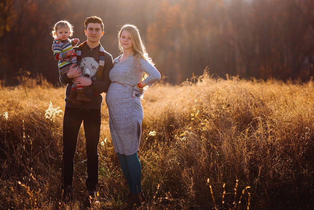 family portraits in winter in wv