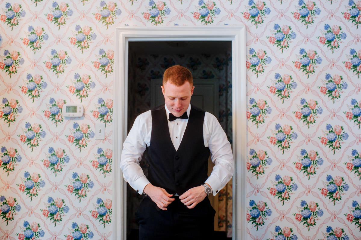 groom getting ready dorothy draper carleton varney decor wallpaper at greenbrier resort wv