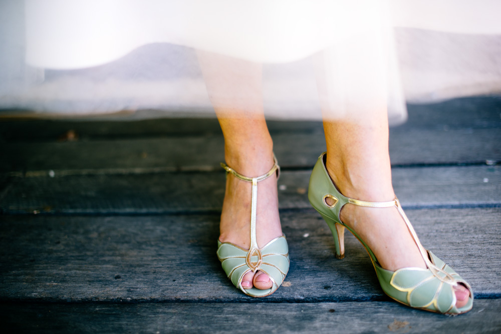 mimosa mint peep toe vintage wedding shoes by rachel simpson