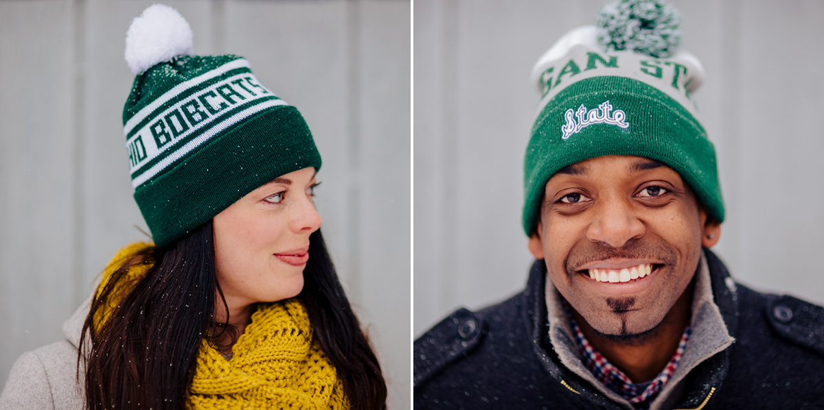 ohio bobcats vs michigan state spartans engagement photos