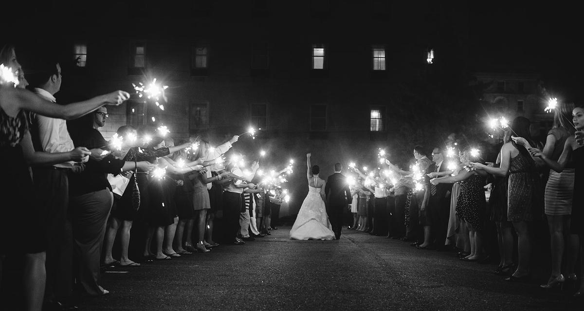 parkersburg west virginia wedding sparkler exit