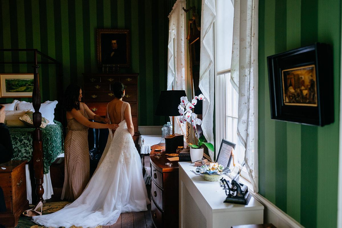 pharsalia virginia wedding bride getting ready