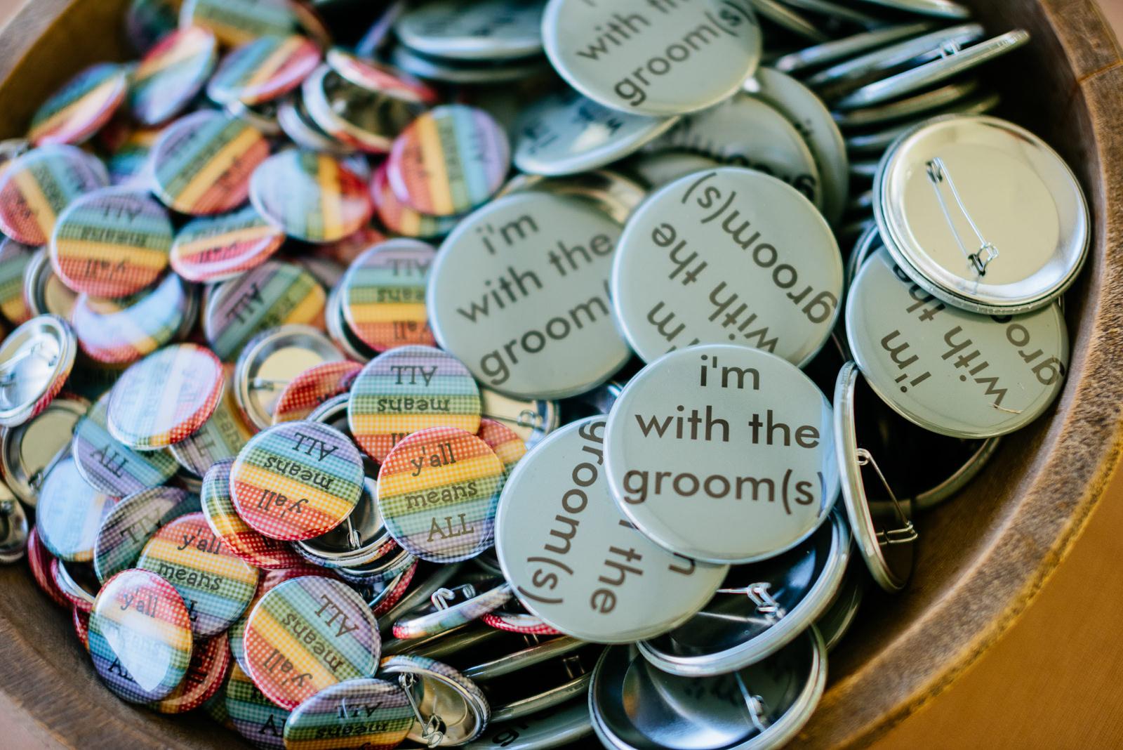 same sex wedding buttons