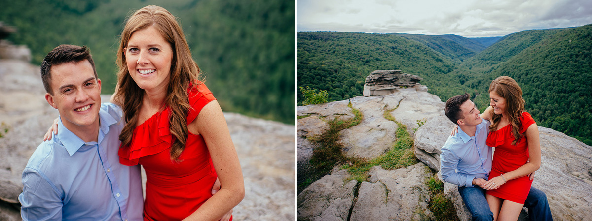 007b portrait of newly engaged couple at blackwater falls state park