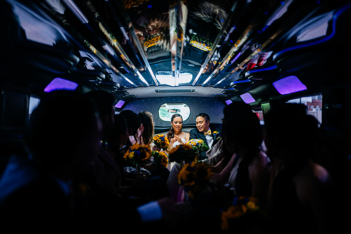 charleston wv wedding artistic hummer limo moment