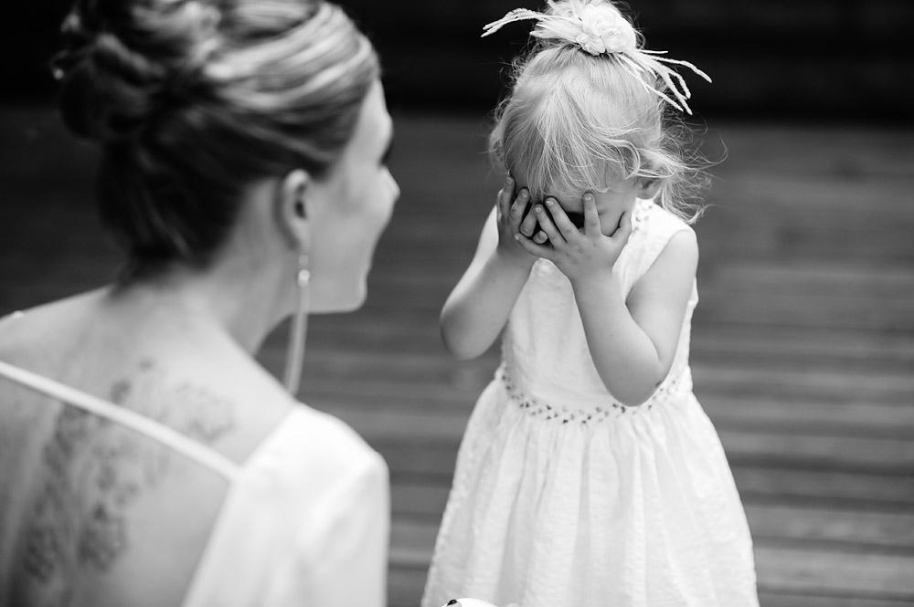 cute little girl at wedding