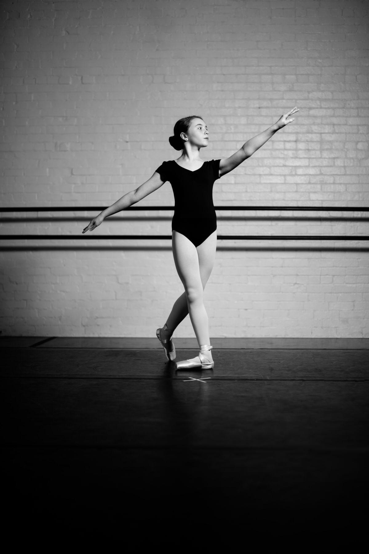 dance portraits adorable ballerina 1