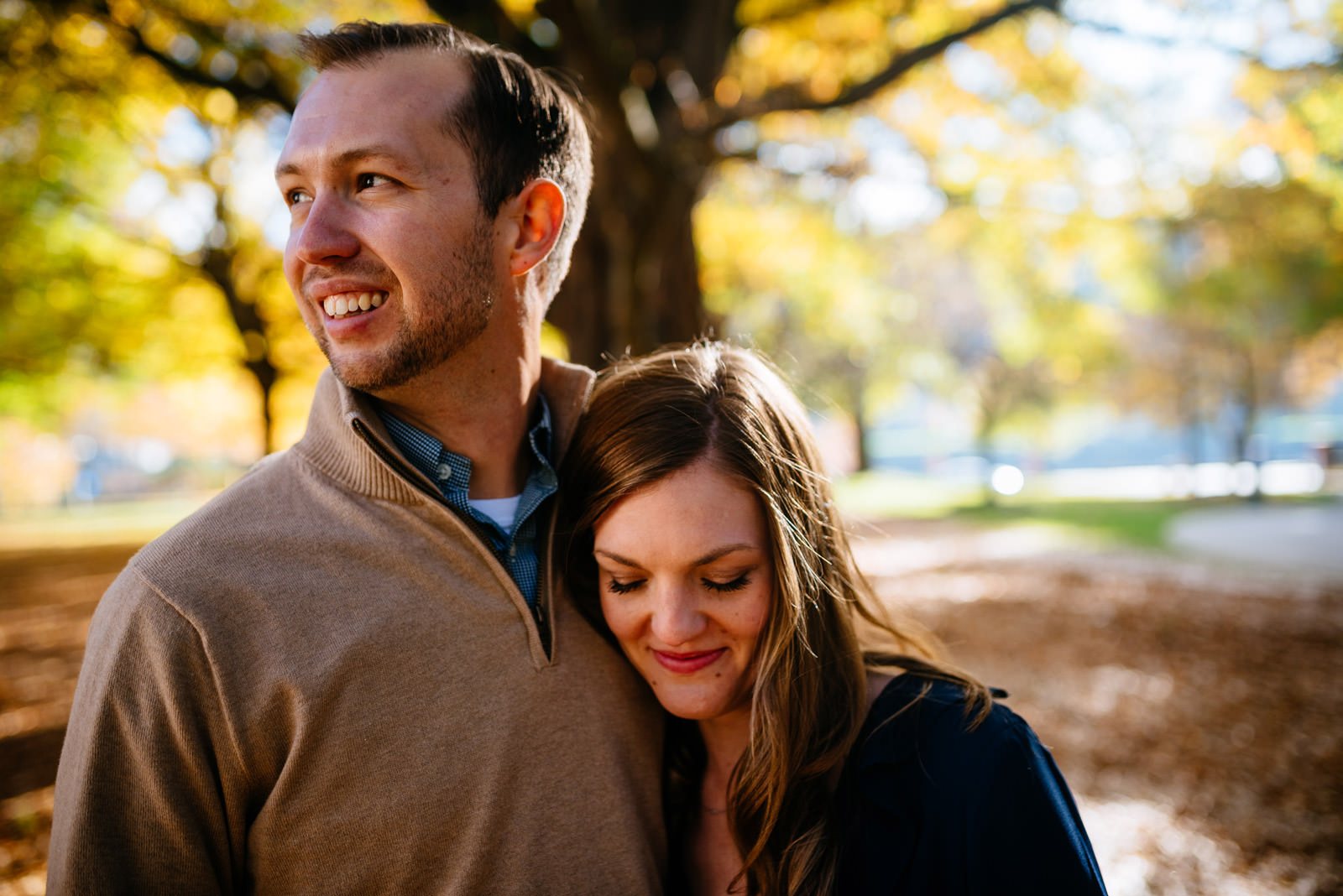 fall charleston wv engagement session