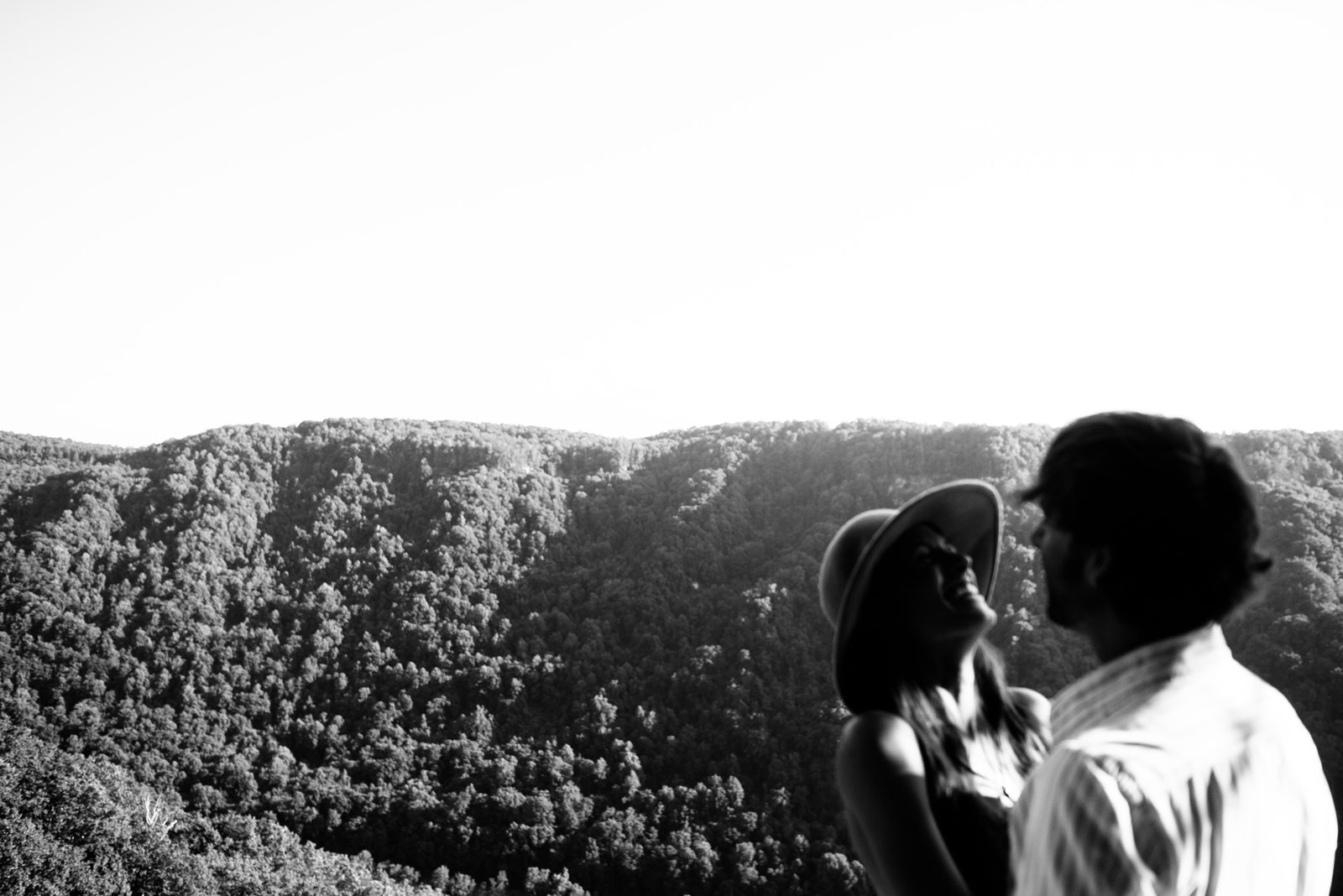 fine art new river gorge engagement