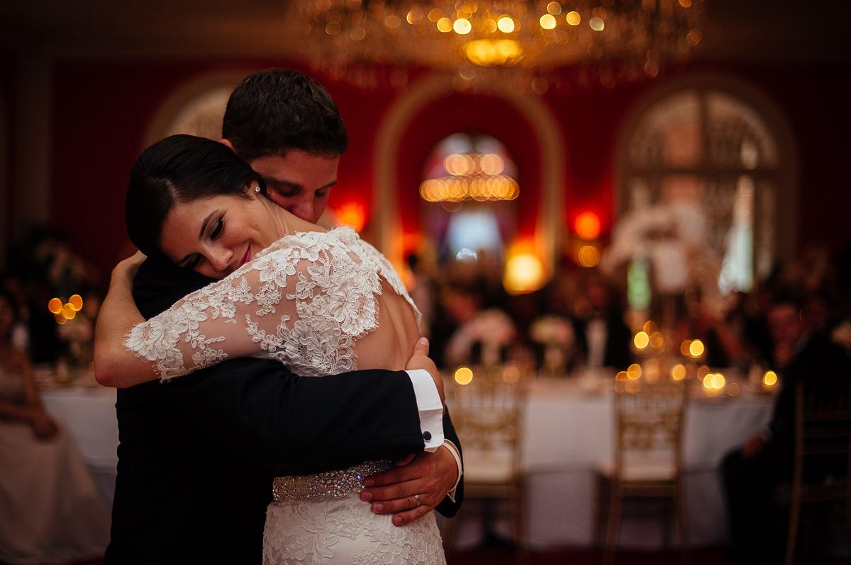 greenbrier resort wedding reception first dance photojournalism