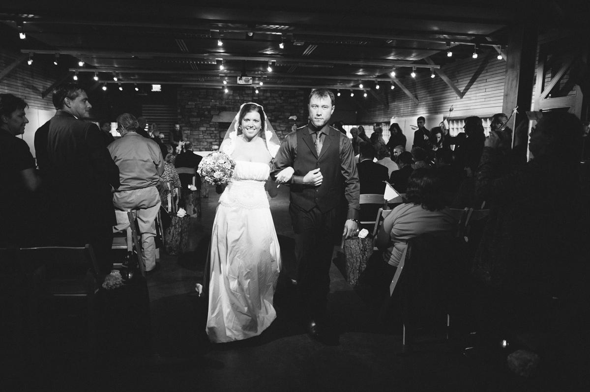 the barn at fallingwater wedding ceremony