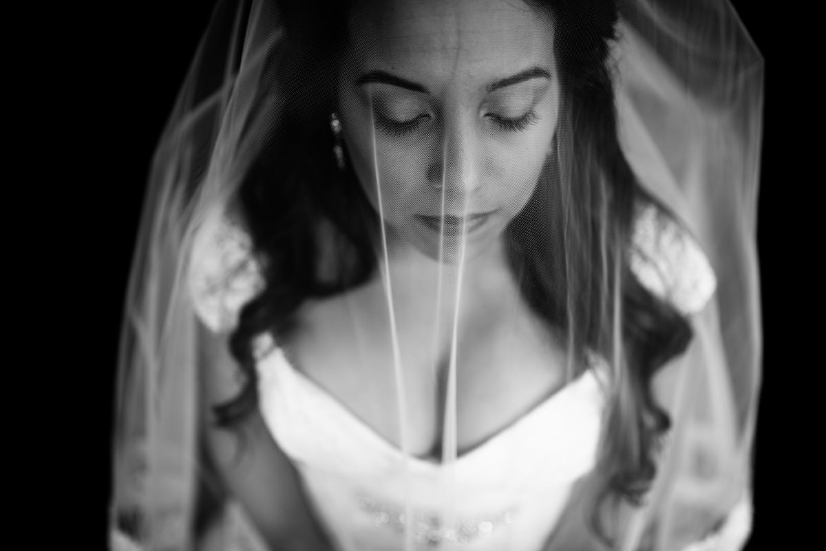 black and white bridal portrait charleston wv