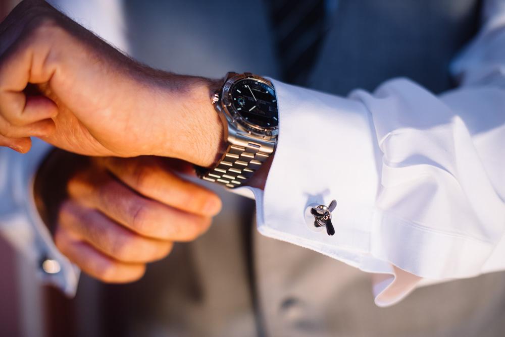 cracked pepper airplane propeller cufflinks wedding details groom attire