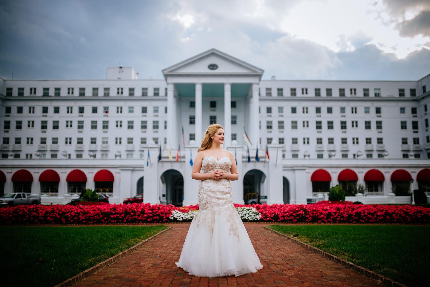 greenbrier resort bridal portraits white sulphur springs wv