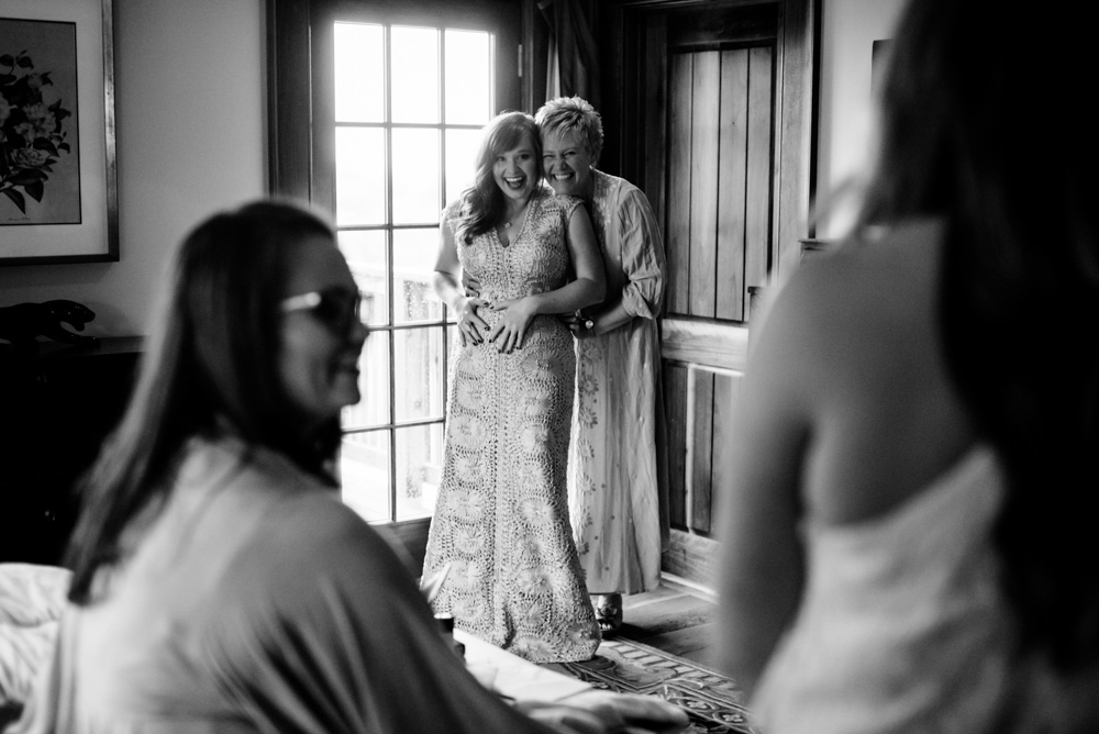 happy bride mother wedding day photojournalism by west virginia photographers the oberports