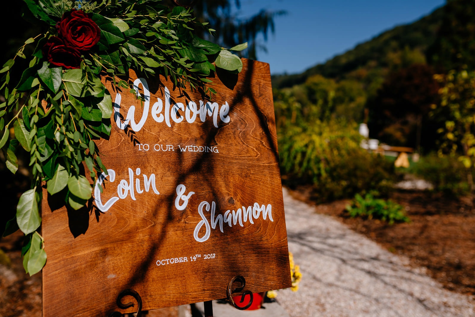 outdoor october wedding in charleston wv