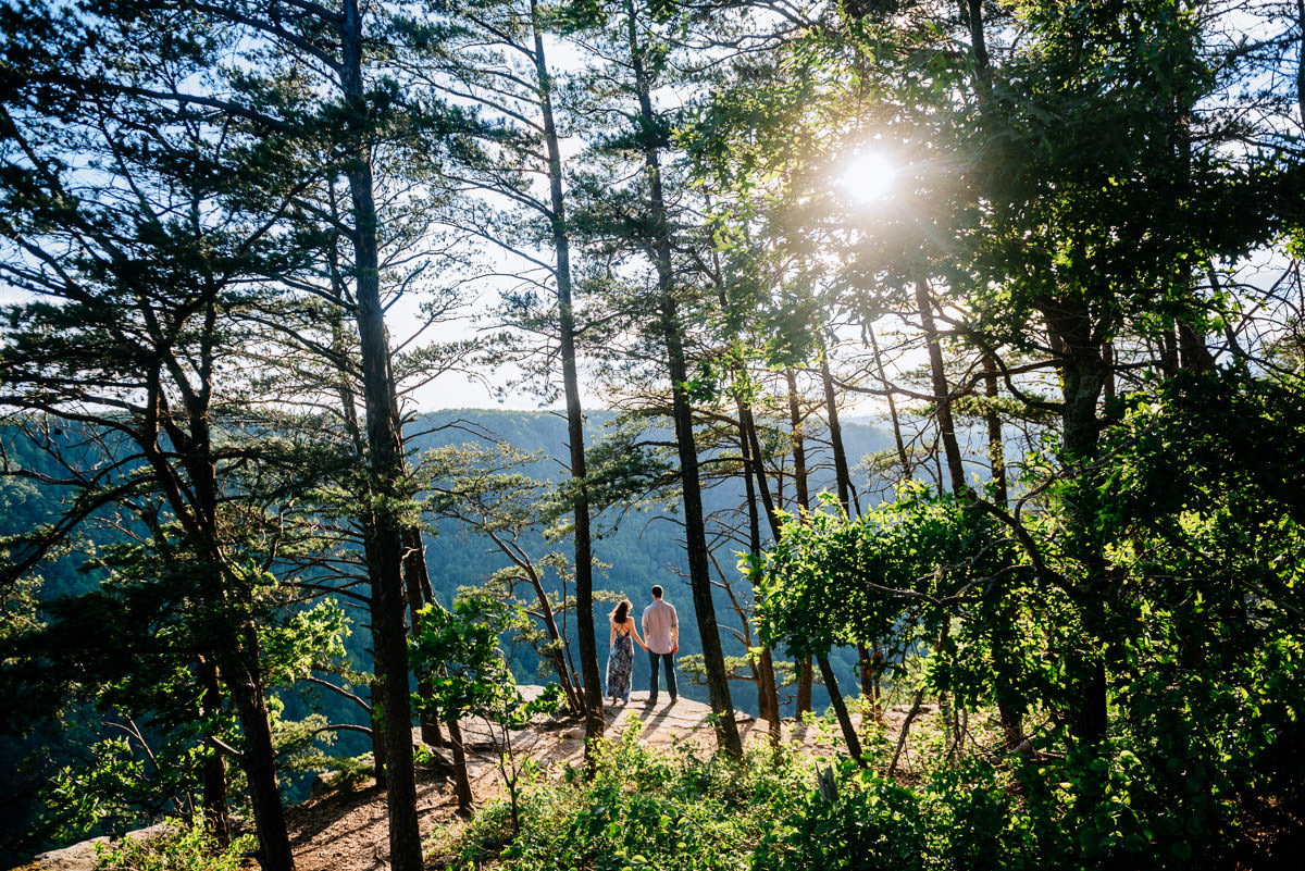 scenic wv engagement session endless wall trail overlooks