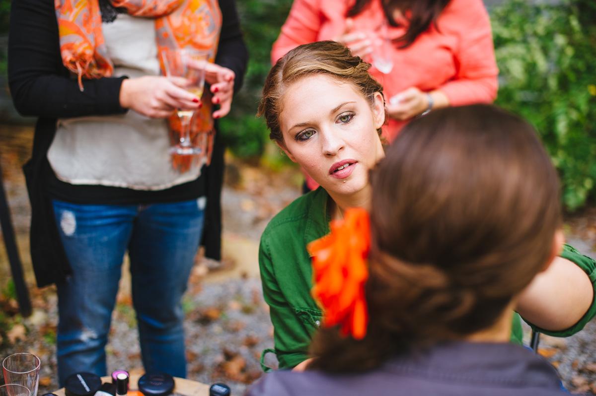 west virginia getting ready wedding photos
