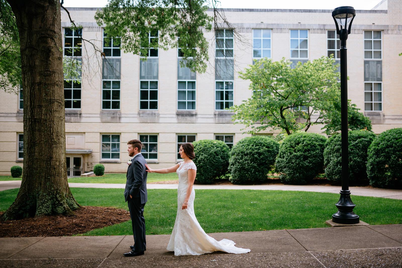 wv wedding first look