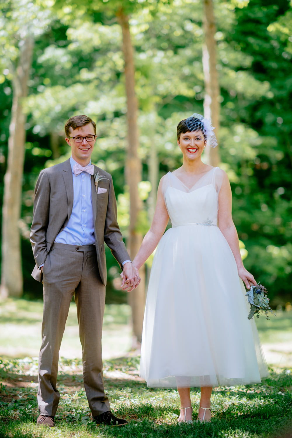 adorable bride and groom camp muffly wv wedding