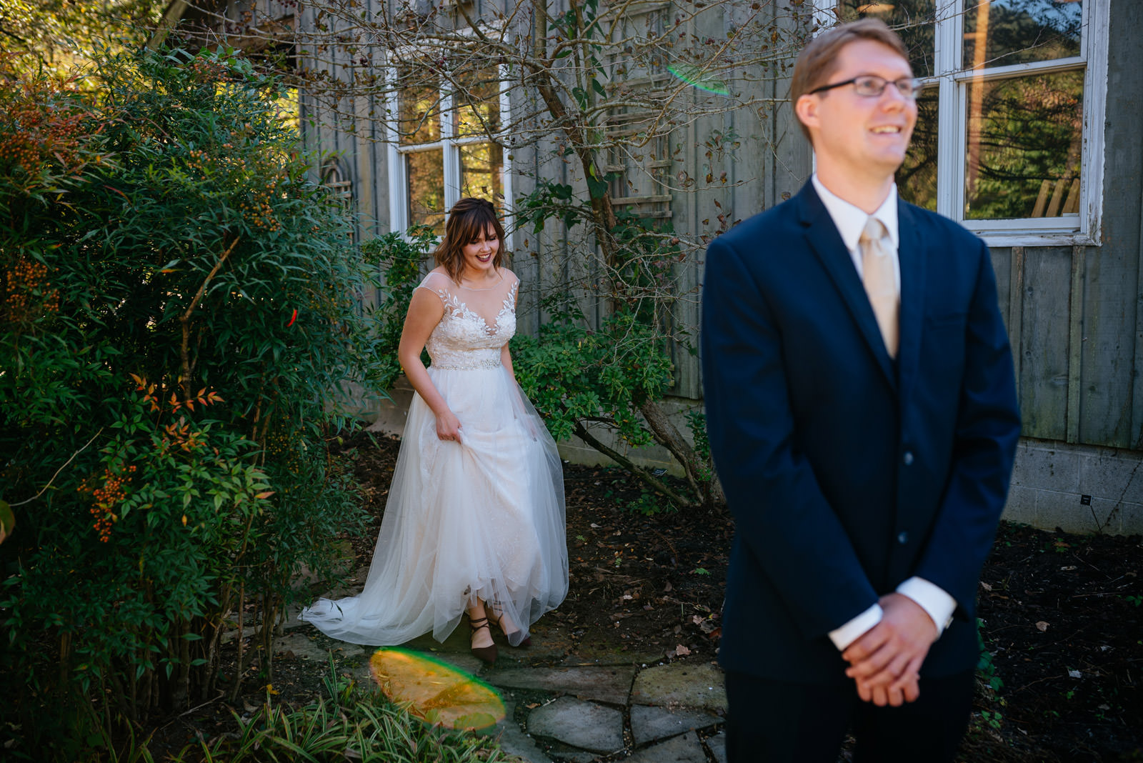 charleston wv wedding first look pictures