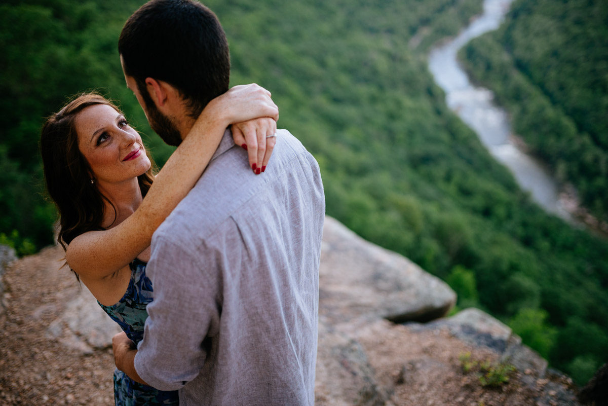 new river fayetteville wv engagement session