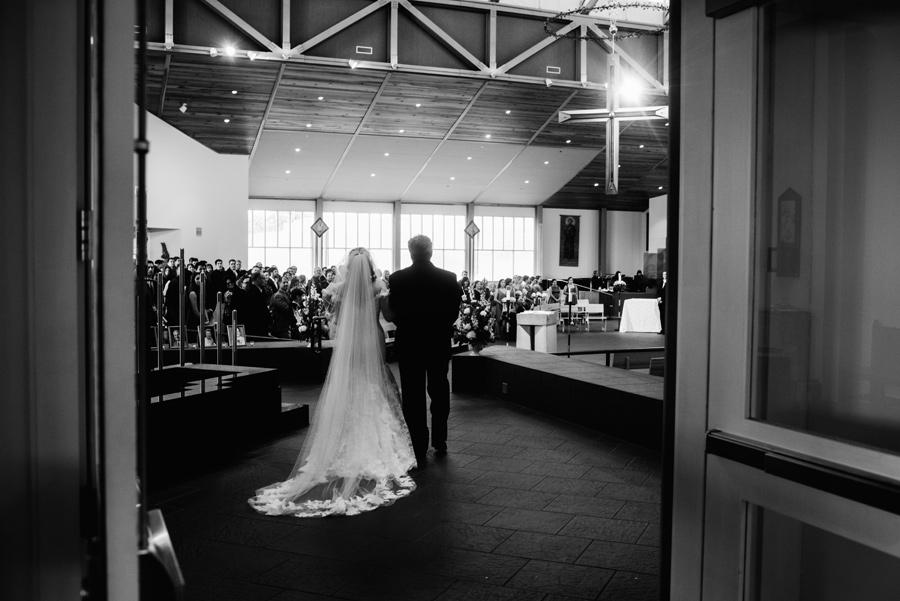 wedding ceremony at st francis de sales catholic church morgantown wv