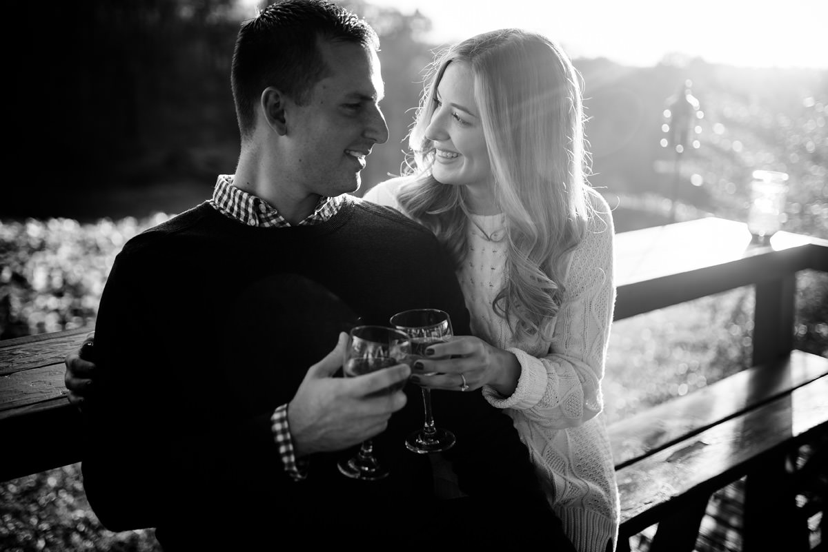 winery engagement portraits athens ohio