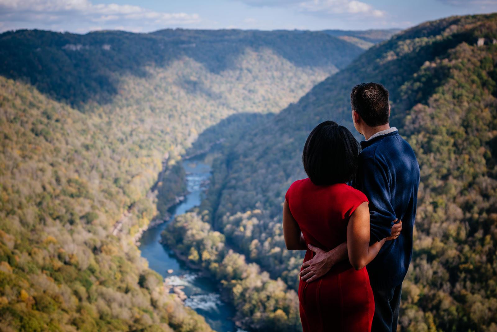 wv new river gorge engagement photos