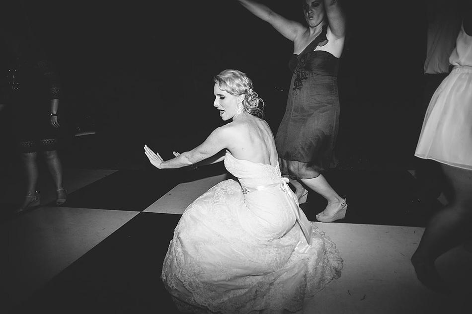 bride twerking on dancefloor wedding reception photography