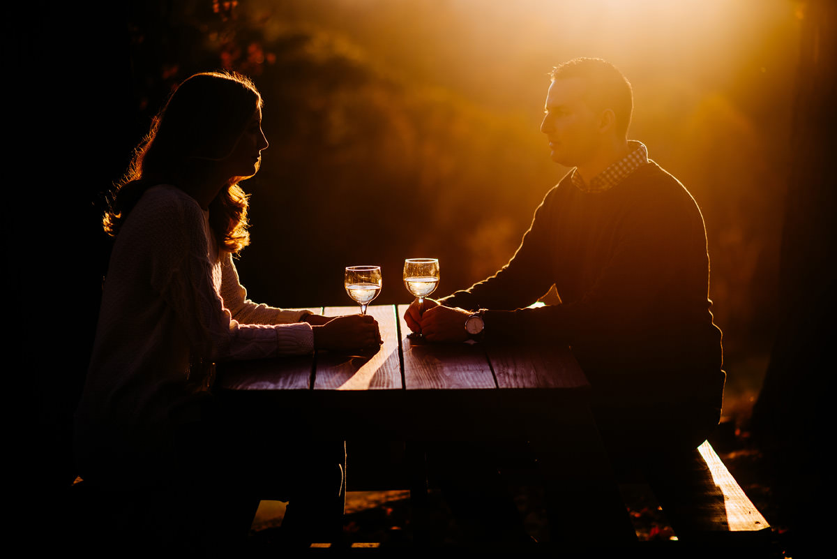 athens ohio winery engagement session
