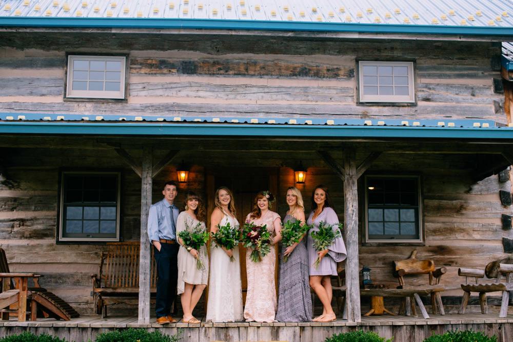 benedict haid farm cottage bridal party portraits