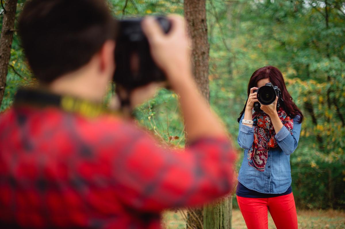 creative portraits of married photographers