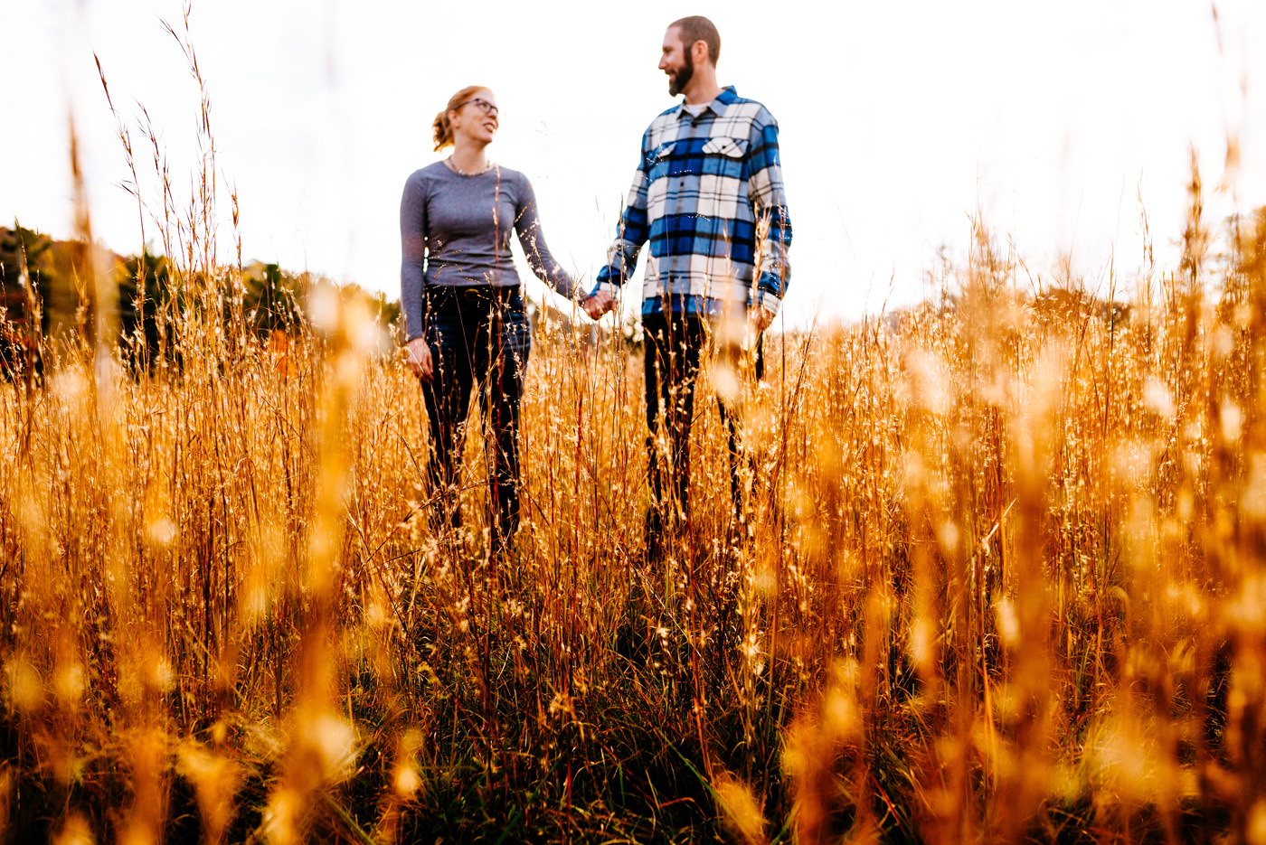 fall engagement portraits in west virginia