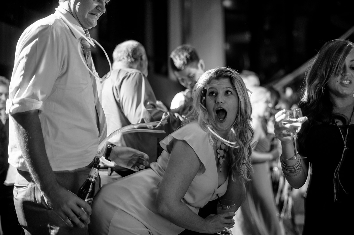 hilarious candid wedding reception dancefloor moment
