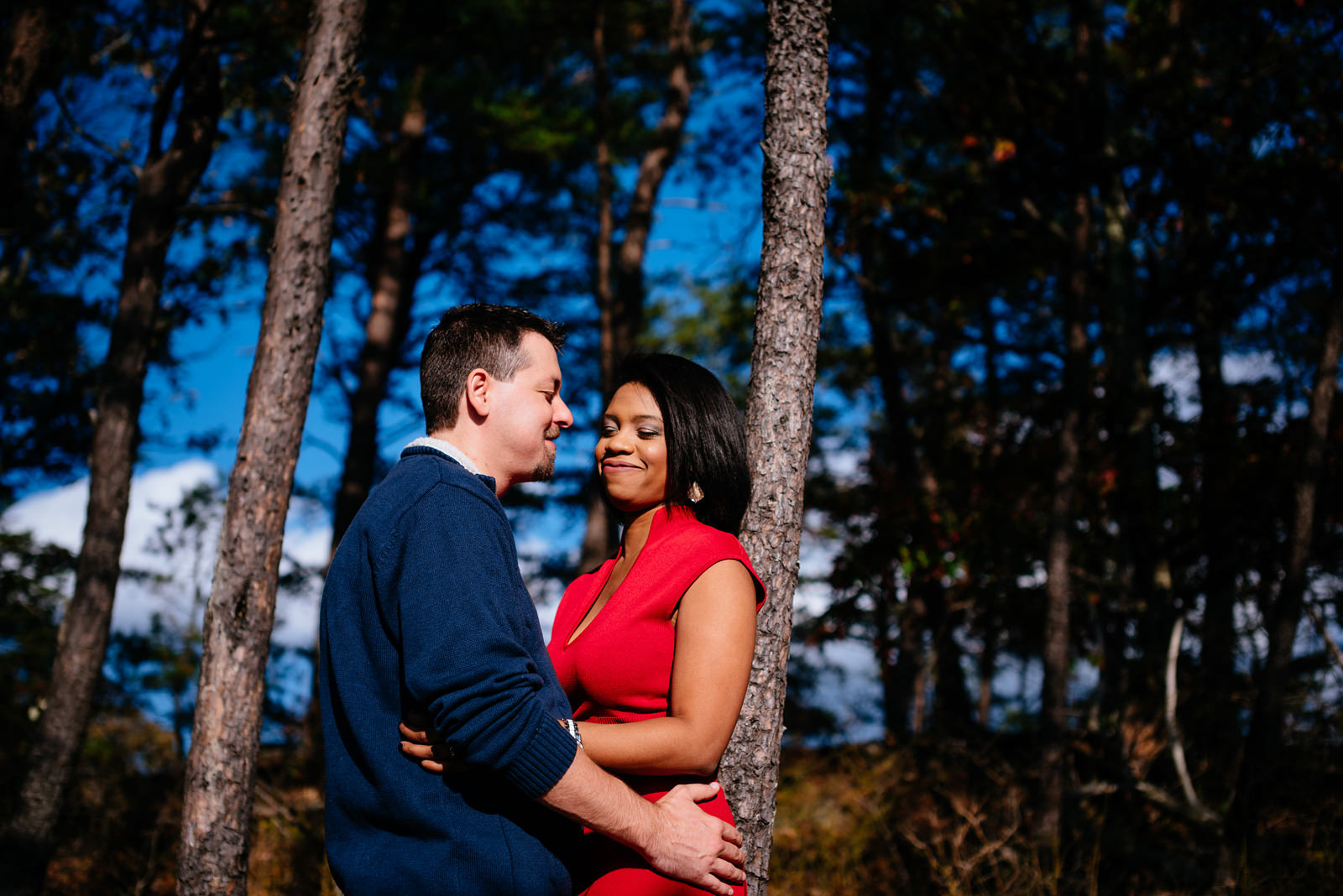 outdoorsy engagement photos in wv